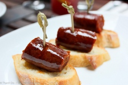 Chorizo, typical tapa in Asturias, north of Spain