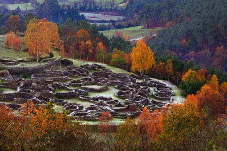 celtic village from 4th BC in the middle of the mountains