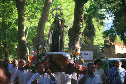 virgin procession