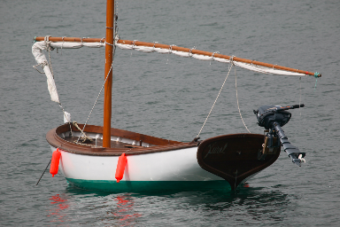 traditional boat in the sea, asturias, north of Spain