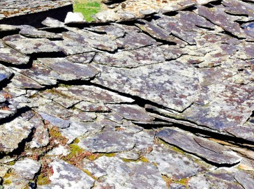 slate roof, asturias, north of Spain